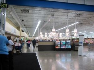 Checkouts at Detroit Meijer