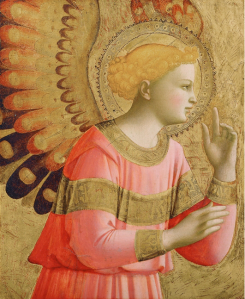 Annunciatory Angel, Fra Angelico, c. 1450-1455. Detroit Institute of Arts.