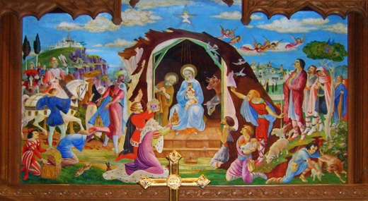 Nativity reredos painting edited